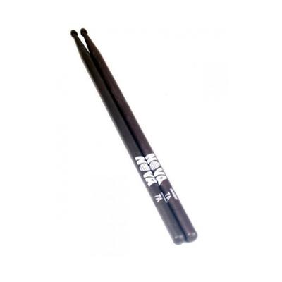 Барабанные палочки VIC FIRTH N7AB 7A с деревянным наконечником, цвет - черный, орех