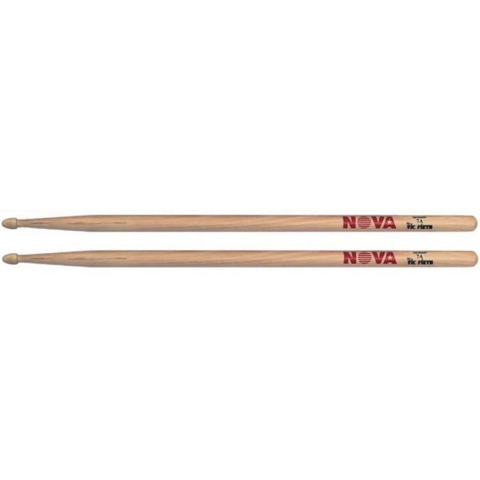 Барабанные палочки VIC FIRTH N7A - 7A с деревянным наконечником, орех