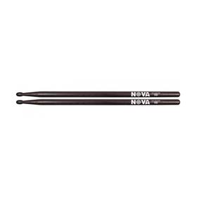 Барабанные палочки VIC FIRTH N5BB 5B с деревянным наконечником, цвет - черный, орех