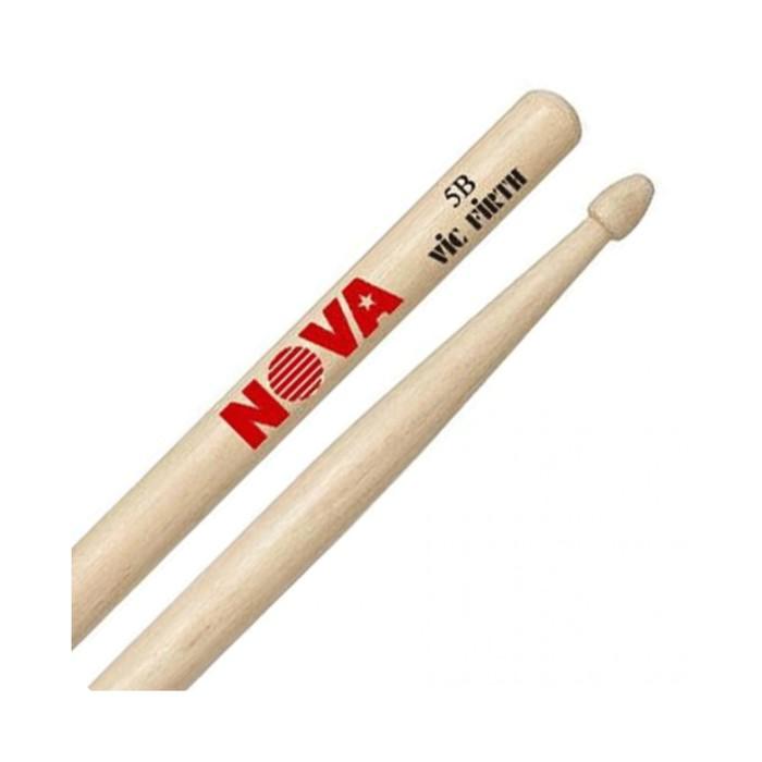 Барабанные палочки VIC FIRTH N5B 5B с деревянным наконечником, орех