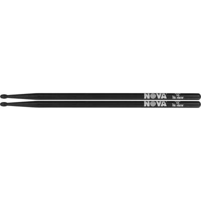 Барабанные палочки VIC FIRTH N5AB 5A с деревянным наконечником, цвет -черный, орех - Фото 1