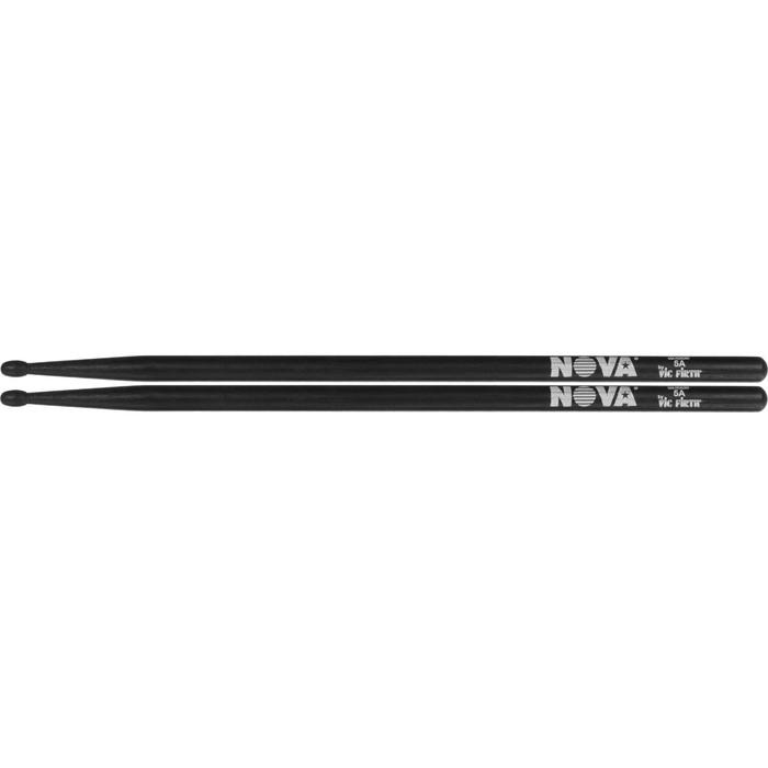 Барабанные палочки VIC FIRTH N5AB 5A с деревянным наконечником, цвет -черный, орех