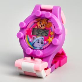 Щенячий патруль. Часы наручные лего 'Скай и Эверест', с ремешком-конструктором, PAW PATROL Ош