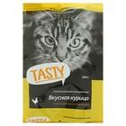 Сухой корм Tasty для взрослых кошек, курица, 350 г