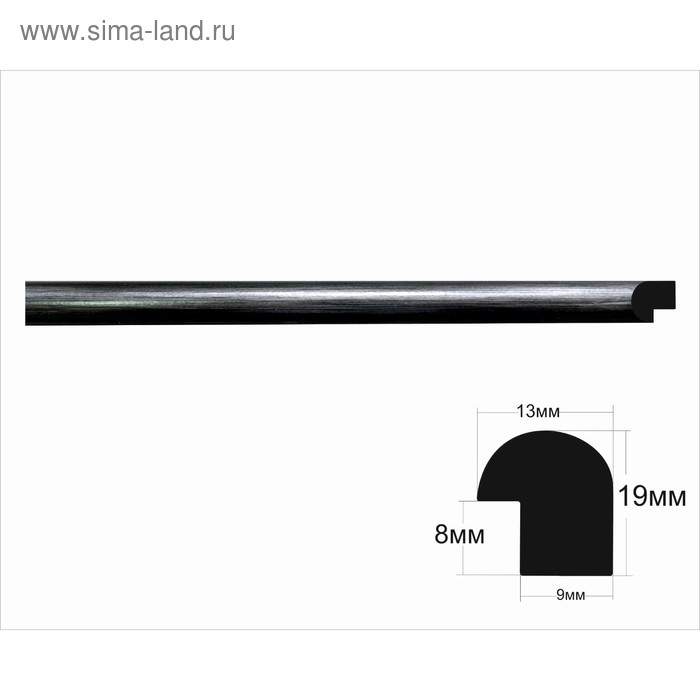 Багет пластиковый 9 мм х 19 мм х 2.9 м (Ш х В х Д), бронза