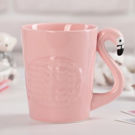 Кружка «Фламинго», 370 мл, цвет розовый