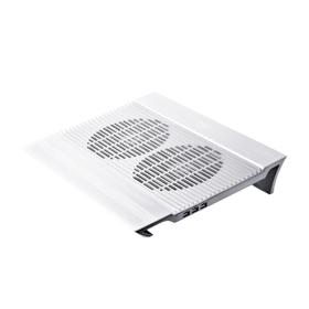 Подставка для ноутбука Deepcool N8 17' 25.1дБ 4xUSB 2x 140ммFAN серебристая Ош