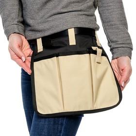 Поясная сумка для работы в саду, 3 кармана Ош