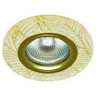 Светильник встраиваемый IL.0018.9173, GU5.3, 50 Вт, цвет золото, d=60мм