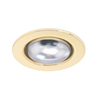 Светильник встраиваемый R63 G, E27, 75 Вт, цвет золото, d=75мм