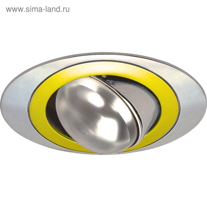 Светильник встраиваемый IL.0008.4521, E14, 60 Вт, цвет золото, серебро, d=72мм