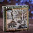 """Новогодние салфетки бумажные Classic """"Кабан"""", 1 слой, 33*33 см, 50 листов"""