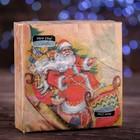 """Новогодние салфетки бумажные Classic """"Веселые сани"""", 1 слой, 33*33 см, 50 листов"""