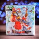"""Новогодние салфетки бумажные Classic """"Дед мороз"""", 1 слой, 33*33 см, 50 листов"""