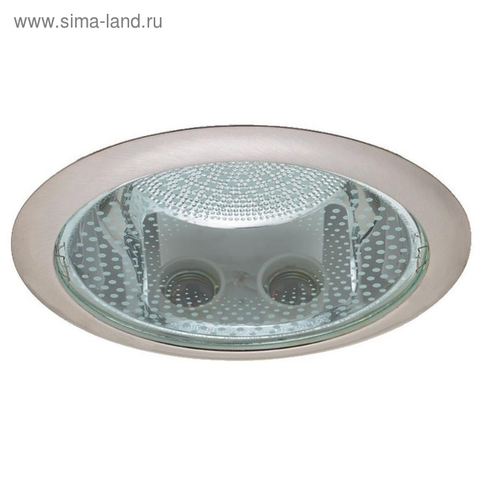 Светильник Downlight IL.0008.4607, КЛЛ Е27, 2x26 Вт, цвет никель, d=205мм