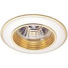 Светильник встраиваемый IL.0008.0132, GU5.3, 50 Вт, цвет золото, d=76мм