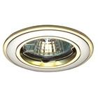 Светильник встраиваемый IL.0008.0532, GU4, 35 Вт, цвет золото, d=45мм