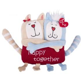 Мягкая игрушка «Кот и кошка: Счастливы вместе», 15см