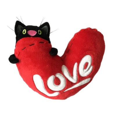 Мягкая игрушка «Кот с сердцем», 23 см - Фото 1