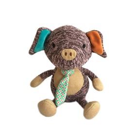 Мягкая игрушка «Поросенок Эдди», 17 см
