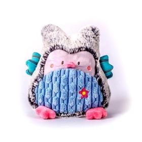 Мягкая игрушка «Совушка», серо-голубая, 17см