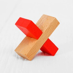 Головоломка «Крест», цветная