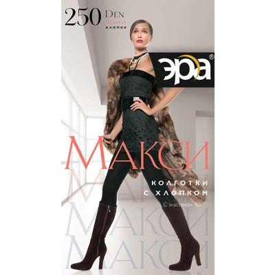 Колготки женские ЭРА Макси 250 цвет чёрный, р-р 6