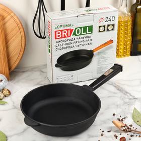 """Сковорода-сотейник чугунная """"ОПТИМА-BLACK"""", 240 х 60 мм, ТМ BRIZOLL"""