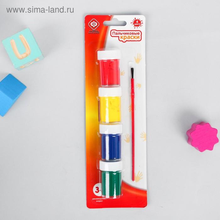 Пальчиковые краски 4 цв*30 мл/бл 57897
