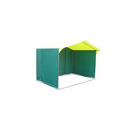 Палатка торговая 1,9*1,9, козырёк 30 см, труба d18мм, цвет жёлто-зелёный Ош