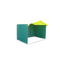 Палатка торговая 2,5*1,9, козырёк 30 см, труба d18мм, цвет жёлто-зелёный Ош