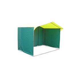 Палатка торговая 3,0*1,9, козырёк 30 см, труба d18мм, цвет жёлто-зелёный Ош