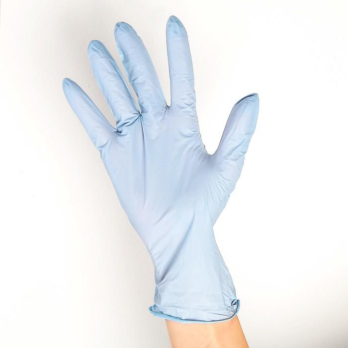 Перчатки нитриловые неопудренные Golden hands, размер L, 200 шт/уп, цвет светло-голубой, цена за 1 шт.