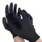 """Перчатки нитриловые неопудренные S """"Black atlas"""", 100 шт/уп, цвет чёрный"""