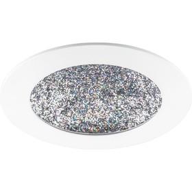 Встраиваемый светодиодный светильник AL9070, 12W, 480Lm, 4000K, цвет белый с мультиколором, d=165мм Ош