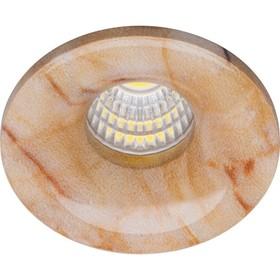 Встраиваемый светодиодный светильник LN003, 3W, 210 Lm, 4000К, цвет мрамор, d=40мм Ош