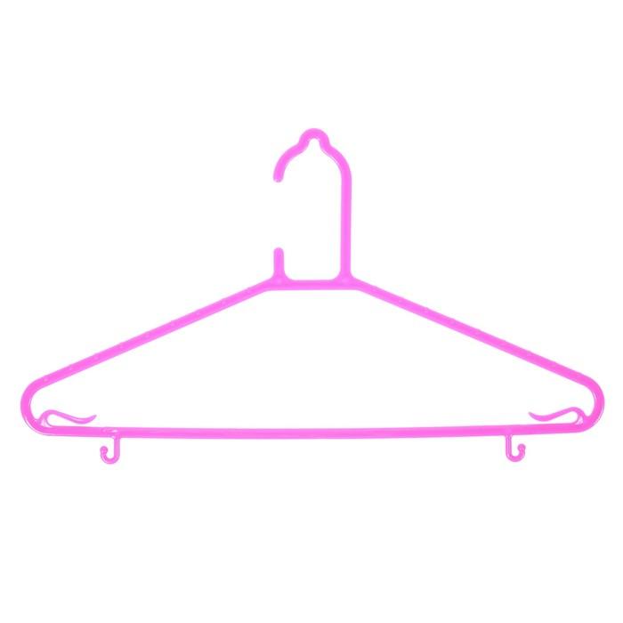 Вешалка-плечики для одежды, размер 46-48 цвет МИКС