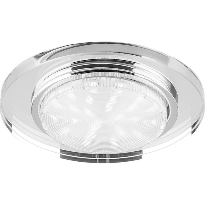 Встраиваемый светильник 4060-2, 11W, GX53, цвет прозрачный, d=90мм