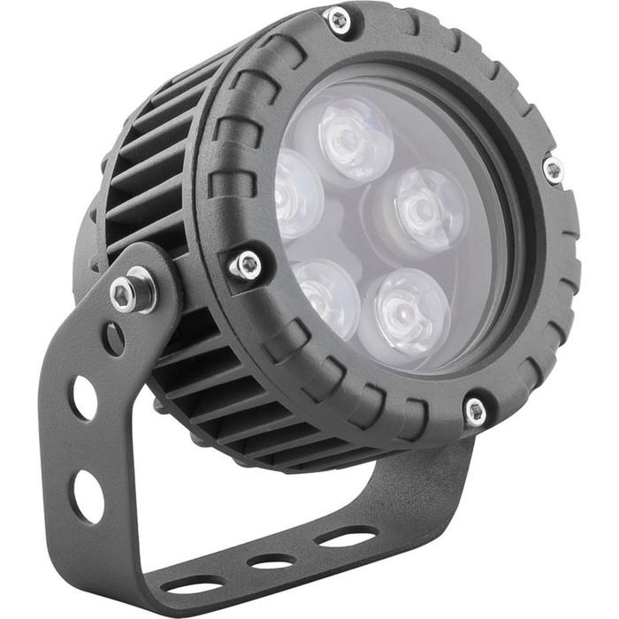 Прожектор светодиодный LL-882, 5W, свет холодный белый, IP65, цвет металлик