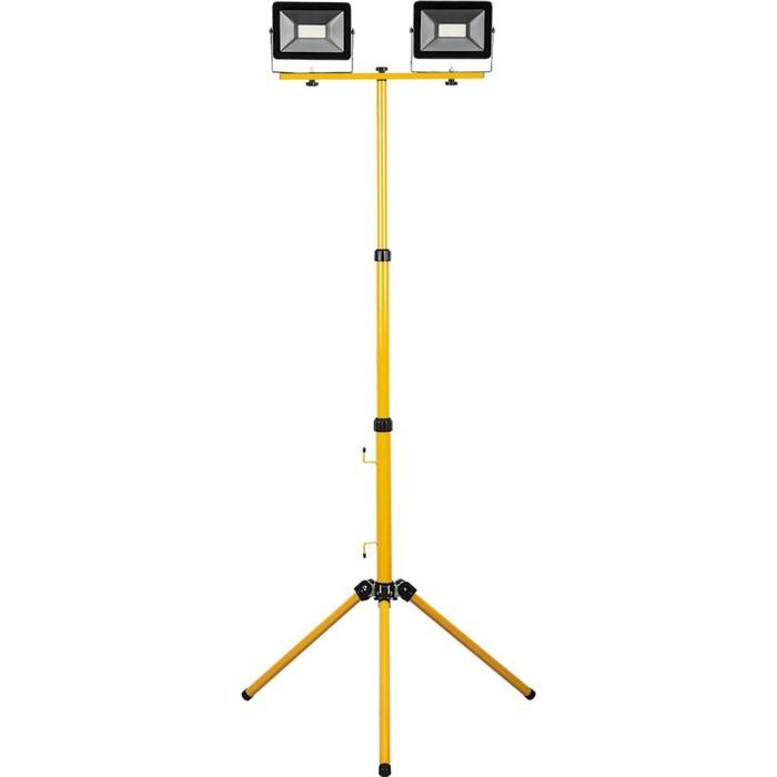 Прожектор светодиодный LL-503, 2х50W, 6400К, IP65, цвет черный, желтый