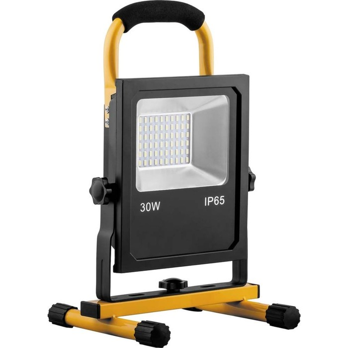 Прожектор светодиодный LL-913, 30W, 6400K, IP65, цвет черный, желтый