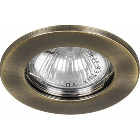 Встраиваемый светильник DL10/DL3201, MR16, 50W, цвет золото, d=60мм