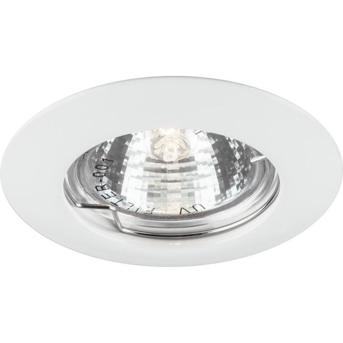 Встраиваемый светильник DL307, MR16, 50W, цвет белый, d=60мм