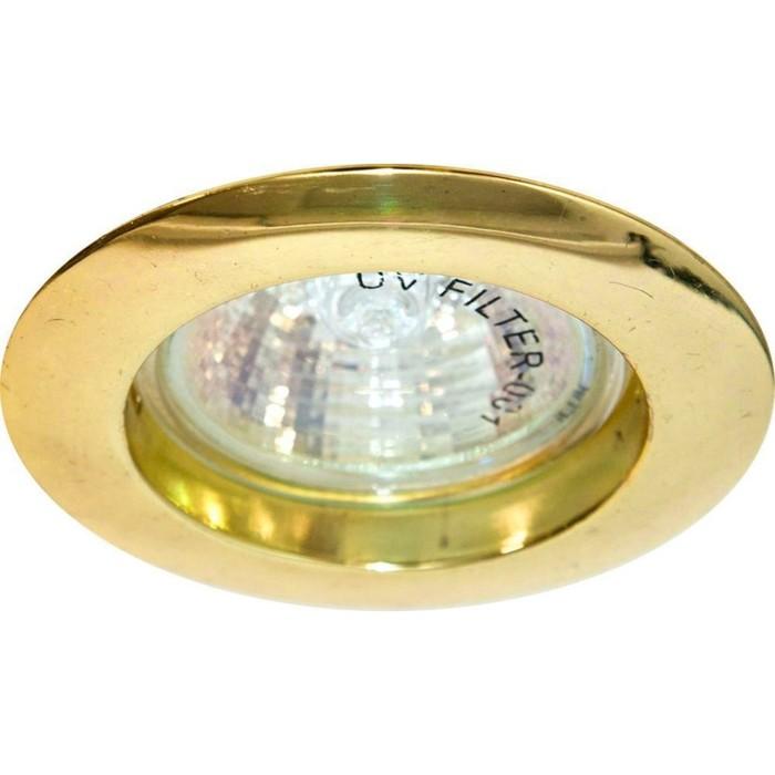 Встраиваемый светильник DL307, MR16, 50W, цвет золото, d=60мм