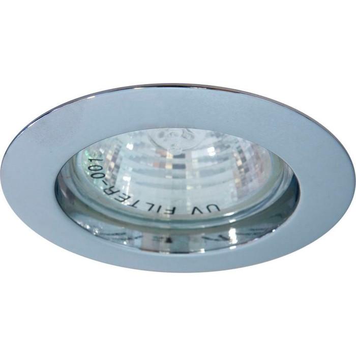 Встраиваемый светильник DL307, MR16, 50W, цвет хром, d=60мм