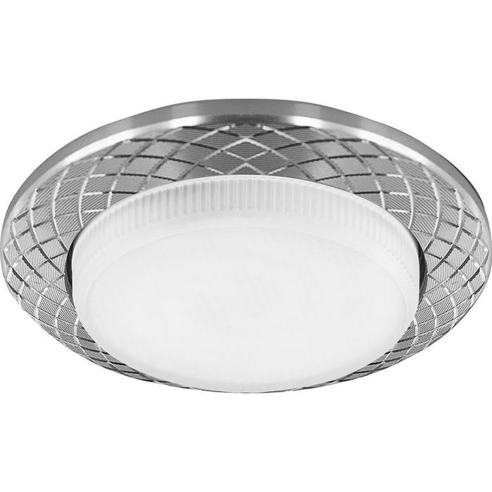 Встраиваемый светильник DL388, 11W, GX53, цвет серебро, d=мм