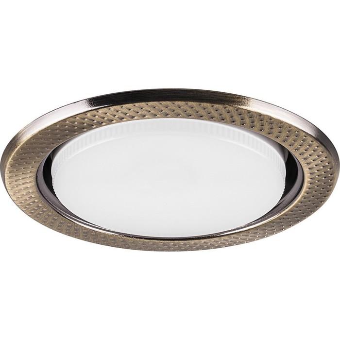Встраиваемый светильник DL5042, 11W, GX53, цвет золото, d=мм