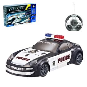 Конструктор радиоуправляемый «Полиция», световые и звуковые эффекты, 24 детали Ош