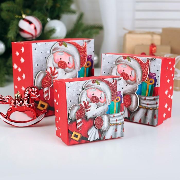 Набор коробок 3 в 1 Новогоднее настроение, 13 х 13 х 8 - 9 х 9 х 6 см