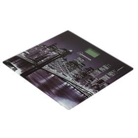 Весы напольные HOMESTAR HS-6001E, электронные, до 180 кг, картинка 'Город' Ош